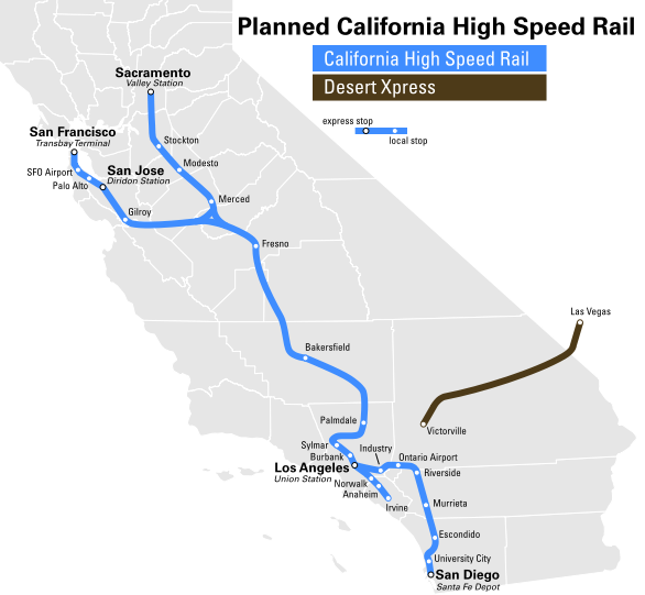 The planned California High Speed Network